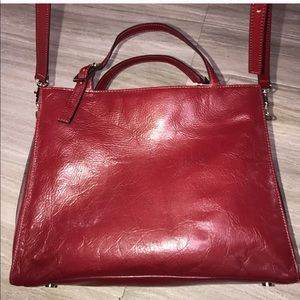 Wilson's Red Leather Bag